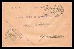 3514 Lettre France Guerre 1914/1918 Guingamp Dépot De Convalescents Sainte Croix Nouveau Le Mans 1915 Sarthe - WW I