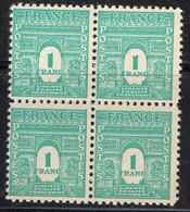 FRANCE ( POSTE ) : SPINK/MAURY  N°  624  X  4  TIMBRES NEUFS SANS TRACE DE CHARNIERE .  A  SAISIR . - 1944-45 Arco Del Triunfo