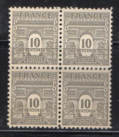 FRANCE ( POSTE ) : SPINK/MAURY  N°  621  X  4  TIMBRES NEUFS SANS TRACE DE CHARNIERE .  A  SAISIR . - 1944-45 Arco Del Triunfo