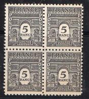 FRANCE ( POSTE ) : SPINK/MAURY  N°  628  X  4  TIMBRES NEUFS SANS TRACE DE CHARNIERE .  A  SAISIR . - 1944-45 Arco Del Triunfo