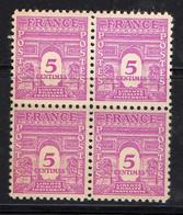 FRANCE ( POSTE ) : SPINK/MAURY  N°  620  X  4  TIMBRES NEUFS SANS TRACE DE CHARNIERE .  A  SAISIR . - 1944-45 Arco Del Triunfo