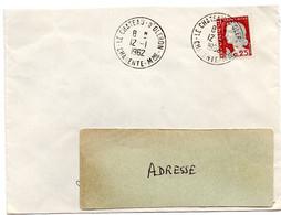 CHARENTE Mme - Dépt N° 17 =  LE CHATEAU D' OLERON 1962 = CACHET  MANUEL A8 - Cachets Manuels
