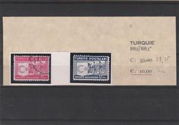 ///  TURQUIE   ///   N) 882 / 883  Turquie - Obl Et * - Non Classificati