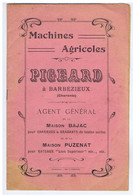 CHARENTE - BARBEZIEUX - Machines Agricoles PIGEARD - Advertising