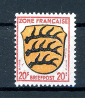 Franz. Zone Allg. Ausgaben MiNr. 8 Bz F Postfrisch Kurzbefund Wehner (1B544 - Französische Zone