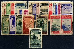 Marruecos Español Nº 186/95, 188/91, 193, 204/5, 208, 210, 213. Año 1938/48 - Marocco Spagnolo