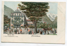 SUISSE INTERLAKEN  Publicité Hotel Du Nord J Maurer Knechtenhofer Prop  - Couleur 1900 Dos Non Divisé      / D03 2015 - BE Berne