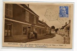 60 MONTLOGNON Le Bureau De TABAC Et Ses Patrons Rue Georges Marchal écrite Timb Rée 1950    D06 2019 - Sonstige Gemeinden