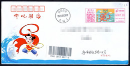 China Zhoushan Postage Machine Meter FDC: Myths Legends-- Nezha Conquers The Dragon King - Lettres & Documents