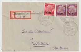 Sk1013 - KATZENTHAL (KR RAPPOLTSWEILER) - 1940 - Recommandé - Etiquette Neutre Surchargée Griffe Linéaire - - Alsace Lorraine