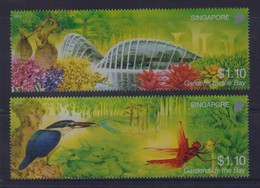 Singapore 2012 Gardens By The Bay, Kingfisher, Dragonfly, Orchids Etc MNH - Non Classificati