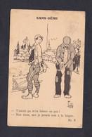 Guerre 14-18 Illustrateur Labbé Sans Gene Blague Tabac Pipe Correspondance Prisonnier Hammelburg  Robert Bourgeois - Weltkrieg 1914-18