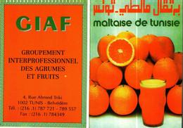 Petit Calendrier Poche  1997       GIAF  TUNIS    Orange Maltaise De Tunisie - Tamaño Pequeño : 1991-00