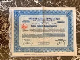 S.A.   COMPAGNIE  GÉNÉRALE  TRANSATLANTIQUE  ---------- Certificat  De  4  Actions  De. Jouissance - Navy