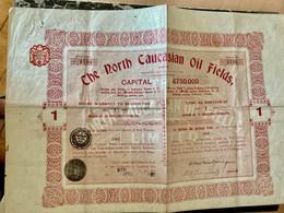 The  North  Caucasian  Oil  Field , Limited  ------------ Titre  D' Une  Action  De  10  Shillings - Oil