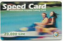 Scheda INTERNAZIONALE Prepagata SPEED CARD  Lit. 20.000, Scadenza 31 Luglio 2002 Usata - Unclassified