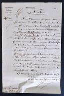 Sous Intendance Militaire Du Var Pour Le Maire D'Ollioules 1852 Petite Lettre - Historische Documenten
