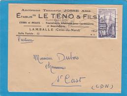 ETABLISSEMENTS LE TENO & FILS, CUIRS ET PEAUX,FOURNITURES GENERALES POUR CORDONNERIE ET BOURRELLERIES,LAMBALLE. - Lettres & Documents