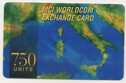 Scheda INTERNAZIONALE Prepagata MCI WORLDCOM, 750 UNITS, Usata - Unclassified