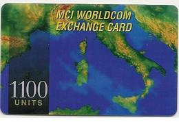 Scheda INTERNAZIONALE Prepagata MCI WORLDCOM, 1100 UNITS, Usata - Unclassified