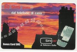Scheda BONUS CARD SMS TELECOM ITALIA, NUOVA, 50 Sms Gratis Dal Telefono Di Casa - Unclassified