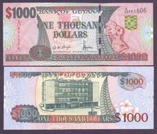 Guyana, 1.000 Dollars Pick 35, Signatur 11, Unc. - Guyana