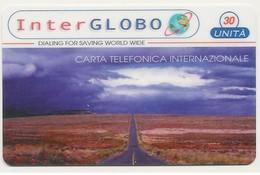 Scheda Carta Telefonica Internazionale INTERGLOBO, 30 UNITA', Usata - Unclassified