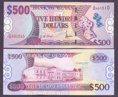 Guyana, 500 Dollars Pick 34, Signatur 11, Unc. - Guyana