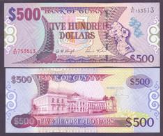 Guyana, 500 Dollars Pick 34, Signatur 12, Unc. - Guyana