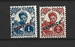 Timbre Colonie Francaises Indochine  Service En Neuf * N 31/32 - Unused Stamps