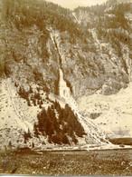 Cascade Du Melezet Queyras Chasseurs Alpins 1900 Format 11.7x8.5 - Oorlog, Militair