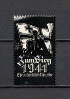 1941 Deutsches Reich Revenue Cinderella Vignette Propaganda - Vignetten (Erinnophilie)