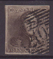 BELGIQUE :  N° 1 . OBL  .TB . 1849 .   ( CATALOGUE YVERT ) . - 1849 Epaulettes