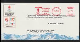 France Card Tulle Souilhac 1992 Renault Albertville 92 Partenaire Olympique (LG27) - Inverno1992: Albertville