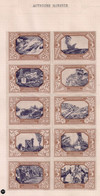 WW1 ERA Germany/Austria/Hungary Cinderella Vignette  COMPLETE SHEET OF 10  Offizielle Kriegsfürsorge Scheinwerfer - Erinnophilie