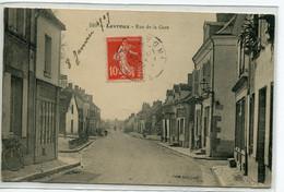 36 LEVROUX Plutot Rare La Rue De La Gare No 510 édit ThG  écrite Timb En 1909     D07 2019 - Sonstige Gemeinden