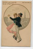 AUTRICHE Danses Nationales Valse Viennoise Couple De Danseurs  1900 Dos Non Divisé     D07 2019 - Non Classés