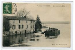 01 THOISSY Port Barge Péniche De Secours Inondations 1910 Photo Dotta Thoissey    D07 2019 - Autres Communes