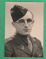 Grande Photo Militaire Soldat Marcel Brigaudin Dieppe Regiment à Identifier (format 12cm X 17cm ) Voir Insignes - War, Military