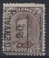 Koning Albert I Nr. 136 Type III Voorafstempeling Nr. 2545A   GENVAL 20   ; Staat Zie Scan ! - Roller Precancels 1920-29