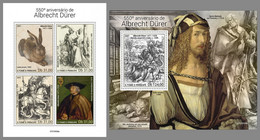 SAO TOME 2021 MNH Albrecht Dürer Paintings Gemälde Peintures M/S+S/S - OFFICIAL ISSUE - DHQ2136 - Andere