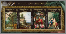 CHAD 2021 MNH Jan Brueghel The Younger Paintings Gemälde Peintures M/S - OFFICIAL ISSUE - DHQ2136 - Other