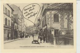 """CPSM VILLENEUVE-SAINT-GEORGES (94) COMME LA VIE ETAIT CALME... AUTREFOIS - """"S.O.S. VILLENEUVE SAINT-GEORGES"""" - Villeneuve Saint Georges"""