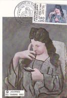 """Journée Du Timbre Du 27 Mars 1982 à SAINT PIERRE, Ile De La Réunion """" Femme Lisant """" - 1980-1989"""