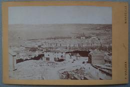 Photo Albuminé Marseille Le Port Vue De Notre Dame Vers 1870/80 - Anciennes (Av. 1900)