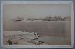 Photo Albuminé Marseille Le Port  Vers 1870/80 - Anciennes (Av. 1900)