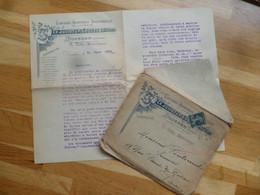 """(Dourdan, Librairie, Edition - 1920) - Enveloppe à Entête + Courrier """" Ch. JULIOT & P. Coquet éditeurs - Drukkerij & Papieren"""