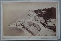 Photo Albuminé Marseille La Corniche Vers 1870/80 - Anciennes (Av. 1900)