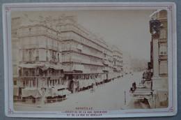Photo Albuminé Marseille Canebière Et Noaïlles Vers 1870/80 - Anciennes (Av. 1900)