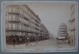 Photo Albuminé Marseille Rue Noaïlles Vers 1870/80 - Anciennes (Av. 1900)